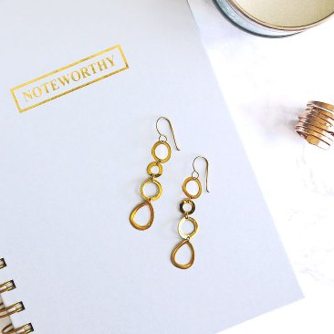Chain Drop Earrings in Gold Tone